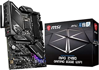 MSI - MPG Z490 Gaming Edge Wifi - Placa Base Performance Gaming (10th Gen Intel Core, LGA 1200 Socket, DDR4, CF, Doble M.2 Ranura, USB 3.2 Gen 2x2, Wi-Fi 6, DP/HDMI, Mystic Light RGB)