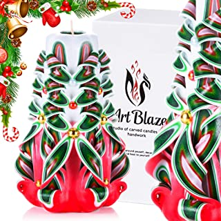Сhristmas Gift Сandles - Decorative Gift Carved Candles - Birthday Gifts for Women - Gifts for Mom - Interior Decoration