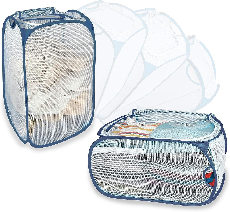 Smart Design Mesh Pop-Up Flip Laundry in Large discharge sale 2 - Hamper Cheap mail order sales Basket 1