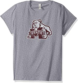 NCAA Mississippi State Bulldogs Women's Vintage Sheer Short Sleeve Tee, Heather Grey, 2X