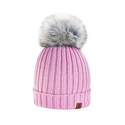 1684abe4cc0 4sold Rita Womens Girls Winter Hat Wool Knitted Beanie with Large Pom Pom  Cap SKI Snowboard