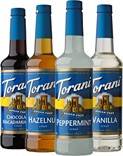 Torani Sugar Free Syrup Holiday Variety Pack, 25.4 Ounces (Pack of 4)