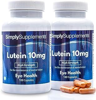Luteina 10 mg - 360 capsule - Adatto ai vegani - 3 mesi di trattamento - SimplySupplements