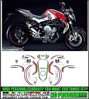 Adesivi ruote moto strisce cerchi per MV Agusta F4 Mod Racing 3 stickers wheel