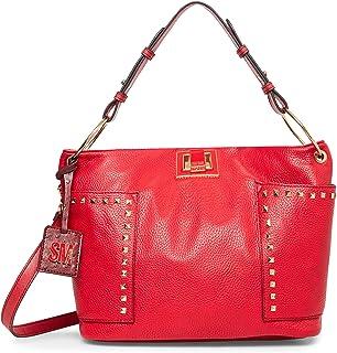 Steve Madden womens Steve Madden SARA Hobo Bag, Red, 11.75 L x 5.5 D 10 H US