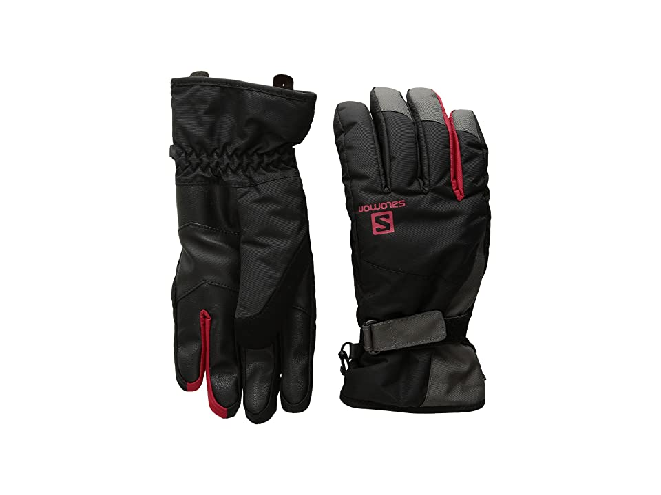 Salomon Force Dry M (Black/Forged Iron) Gore-Tex Gloves