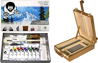 Master Artist Oil Paint Set Includes Wood Art Supply Carrying Case Sketchbox w/Easel