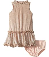 Kate Spade New York Kids - Metallic Ruffle Dress (Infant)