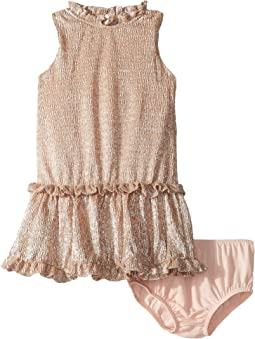 Metallic Ruffle Dress (Infant)