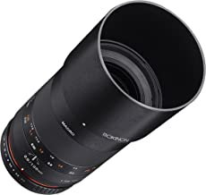 Rokinon 100mm F2.8 ED UMC Full Frame Telephoto Macro Lens for Fuji X Interchangeable Lens Cameras