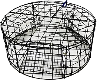 "KUFA Vinyl coated Crab Trap (ø30""xx12""H) with 3 large entrance"