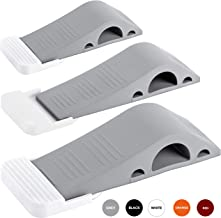Wundermax Door Stopper Rubber Door Stop Wedge Security Door Stops With Door Holder Rubber Door Stoppers Works On All Floor Types and Carpet Heavy Duty Door Jam (3 Pack Gray)