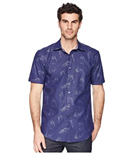 Shaped Fit Shark Woven Shirt