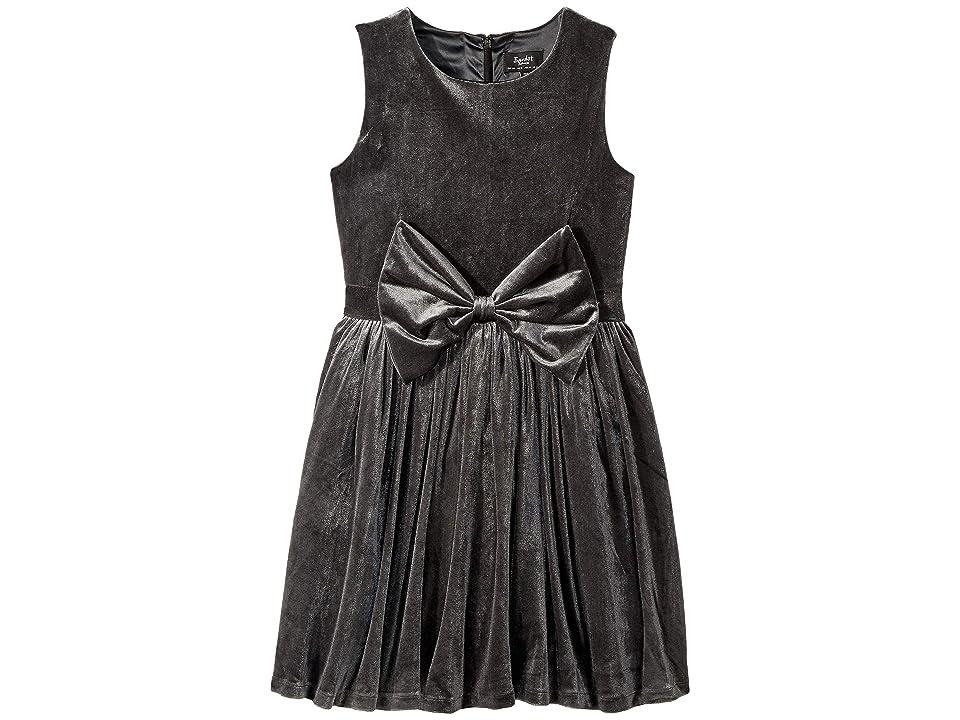 Bardot Junior Nakita Bowie Dress (Big Kids) (Charcoal) Girl
