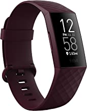 Fitbit Charge 4 Fitness and Activity Tracker with Built-in GPS, Heart Rate, Sleep & Swim Tracking, Rosewood/Rosewood, One ...