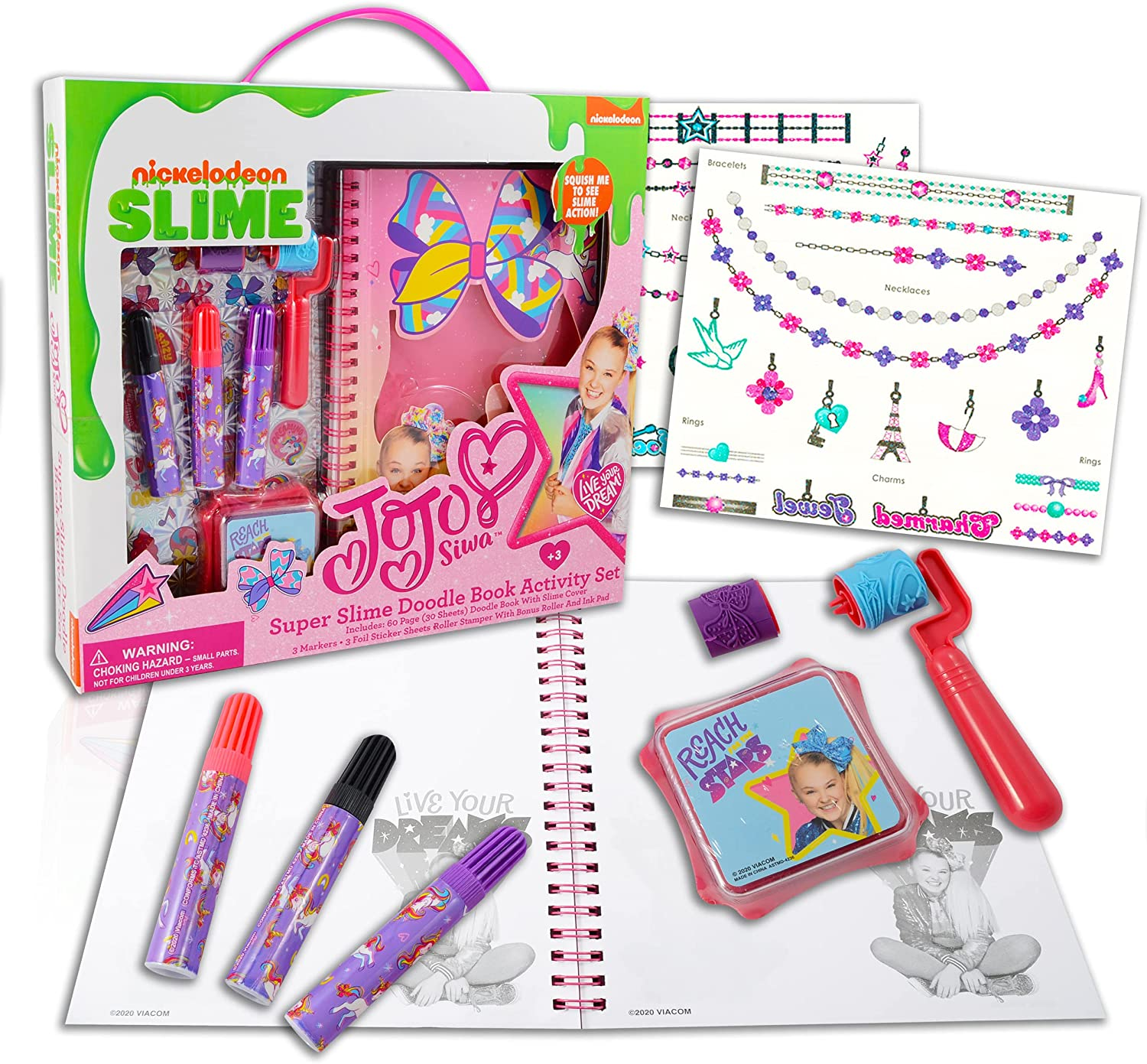 Nick Shop JoJo Siwa Slime Online limited Bombing free shipping product Bundle Accessories Journal ~