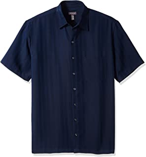 Men's Big and Tall Air Short Sleeve Button Down Poly...