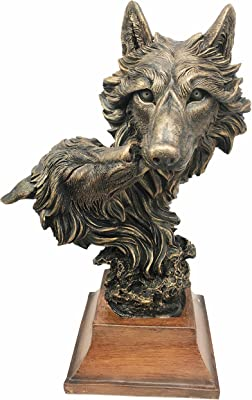 Amazon.com: 8.5 inch Evil Wolf Gárgola Resina – Llamador de ...