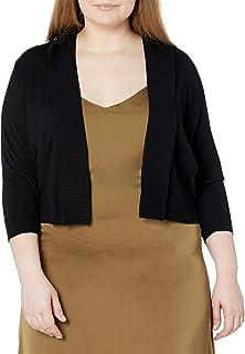 Calvin Klein Women's Plus-Size 3/4 Sleeve Shrug