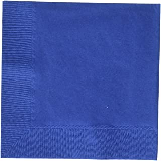 Bright Royal Blue 3-Ply Beverage Napkins | Party Supply | 240 ct.