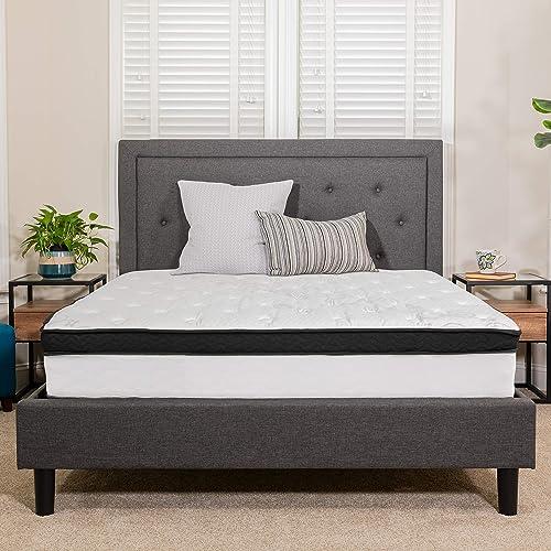 Flash Furniture Capri Comfortable Sleep 12 Inch Memory Foam and Pocket Spring Mattress, Twin Mattress in a Box
