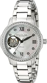 Stuhrling Original Women's Automatic Watch with Mother Of Pearl Dial Analogue Display and Silver Stainless Steel Bracelet 491.01