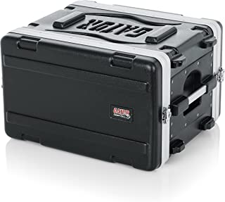 Gator Cases Lightweight Molded 6U Rack Case with Heavy Duty Latches; Shallow 14.25