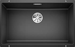 Blanco Subline 500 U/SILGRANIT Undermount Sink/Anthracite/Plug
