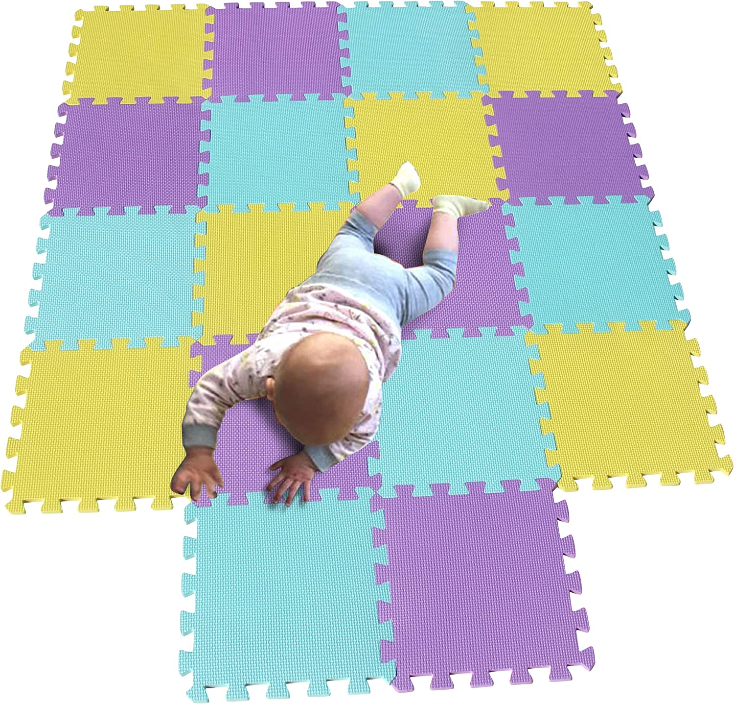 MQIAOHAM Children Puzzle mat Squares Popular brand Tiles Max 60% OFF Bab Play