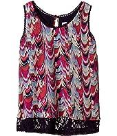 Ella Moss Girl - Sade Short Sleeve Woven Top (Big Kids)