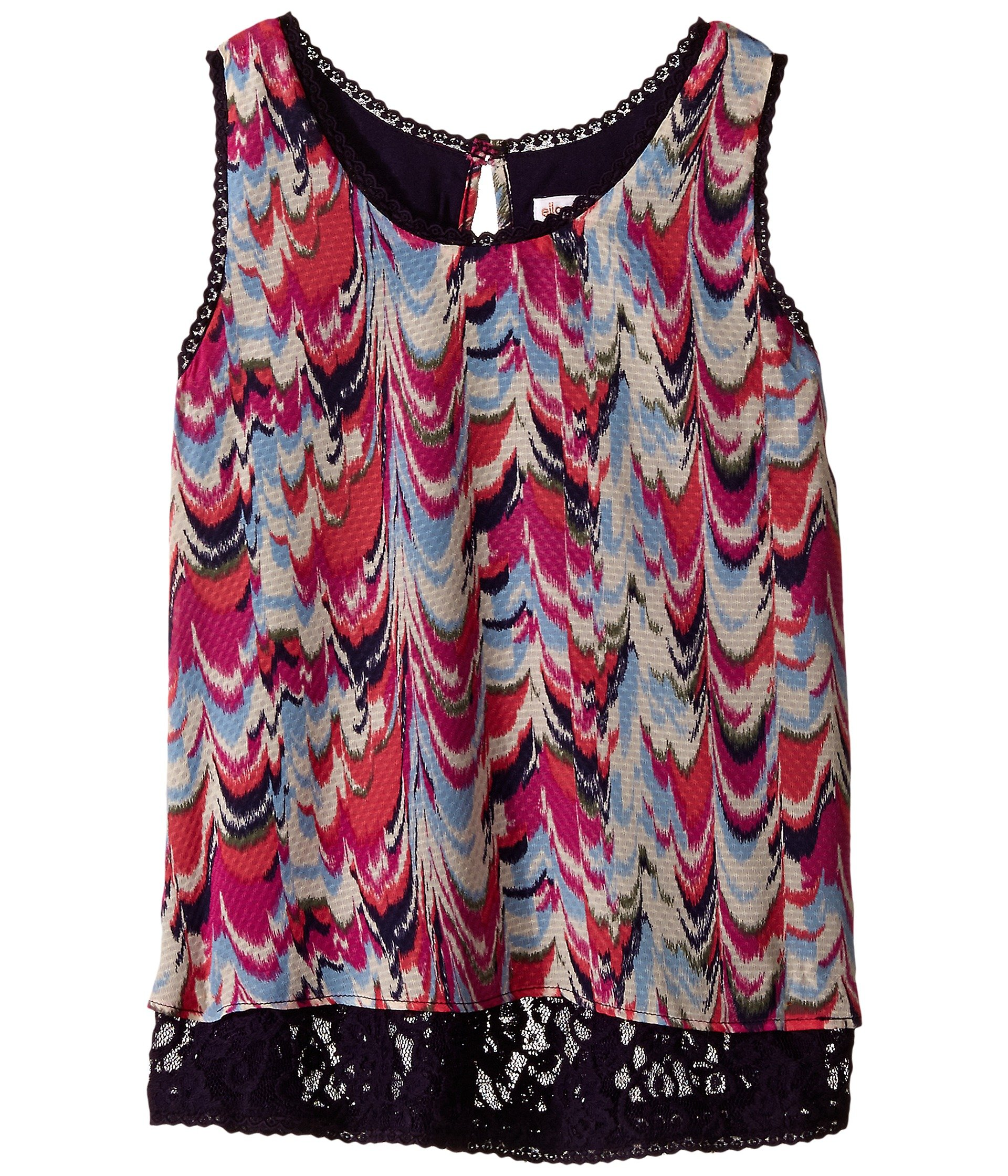 Blusa para Niña Ella Moss Girl Sade Short Sleeve Woven Top (Big Kids)  + Ella Moss en VeoyCompro.net