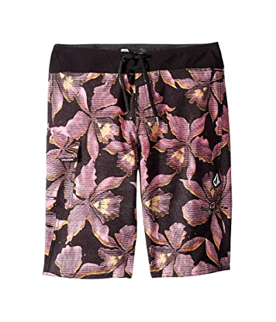 Volcom Kids Fauna Mod Boardshorts (Big Kids) (Neon Pink) Boy