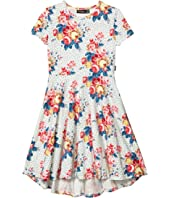 Antique Chintz Short Sleeve Waisted Dress (Toddler/Little Kids/Big Kids)