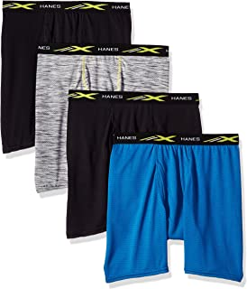 Men's X-Temp Lightweight Mesh Space Dye Boxer Brief 4-Pack, assorted, colors mat vary