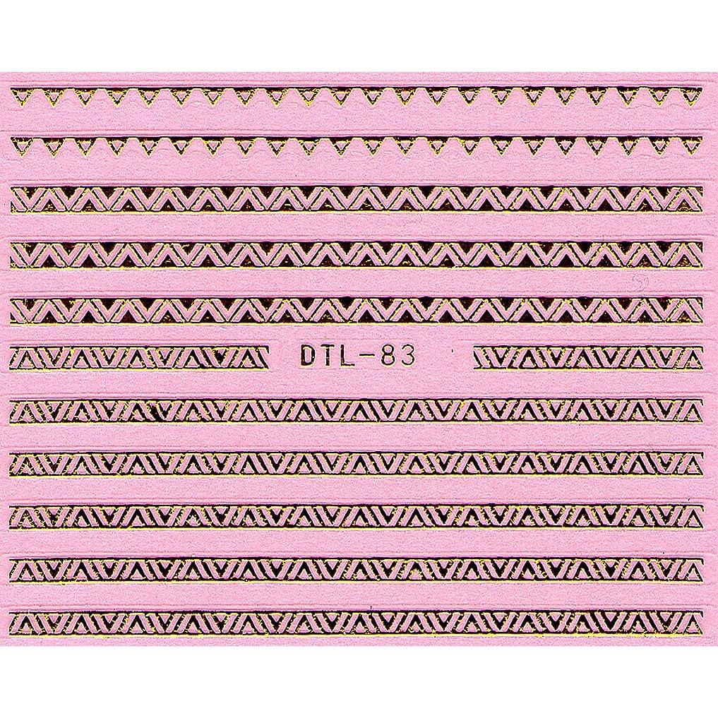 消毒剤一見二年生ネイルシール メタルパーツ風 ネイティブ柄 選べる24種 (MGP22(ゴールド))