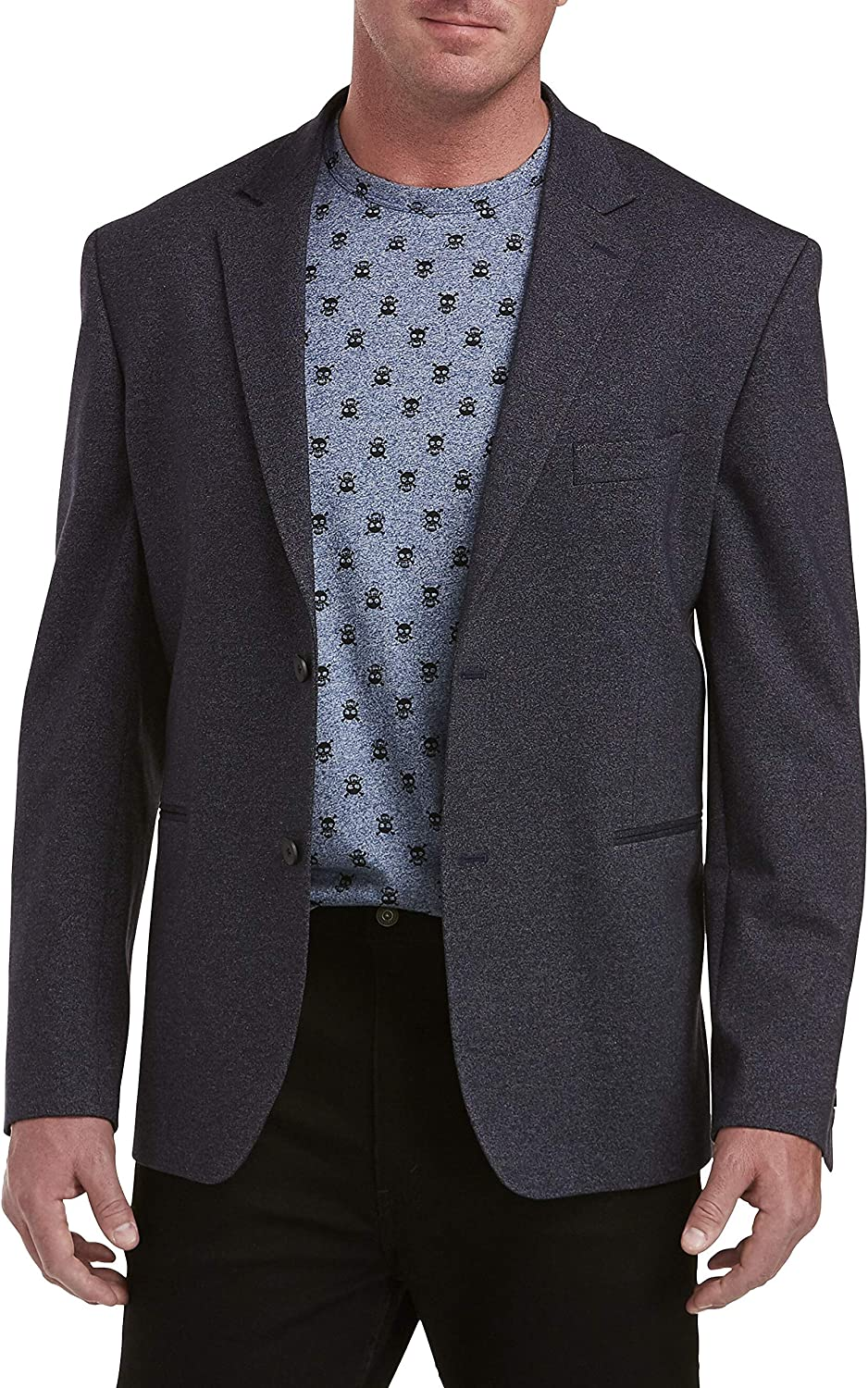 DXL Synrgy Big and Tall Textured Knit Sport Coat, Navy