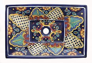 Mexican rectangular basin sink Ceramic Bathroom Vessel #05