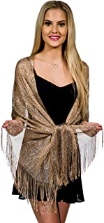Shawls and Wraps for Evening Dresses, Metallic Glitter Shawls for Women, Sparkling Wedding Giving Shawl Gift