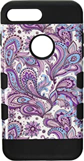 MyBat IP7PLUSHPCTUFFTROIM413NP Purple European Flowers/Black Cell Phone Case for iPhone 7 Plus