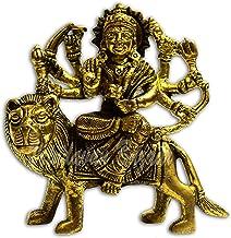 VRINDAVANBAZAAR.COM Maa Durga Statue Brass Religious Gifts Idol Hinduism Decor Durga Puja (9cm x 5cm x 10cm); Weight- 400 ...