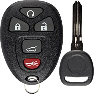 KeylessOption Keyless Entry Remote Control Car Key Fob Replacement for 15913415 with Key