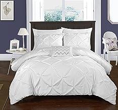 طقم اغطية سرير جايا 4 قطع من شيك هوم، لحاف مقس كينغ، بلون بيج Twin Duvet DS2508-AN