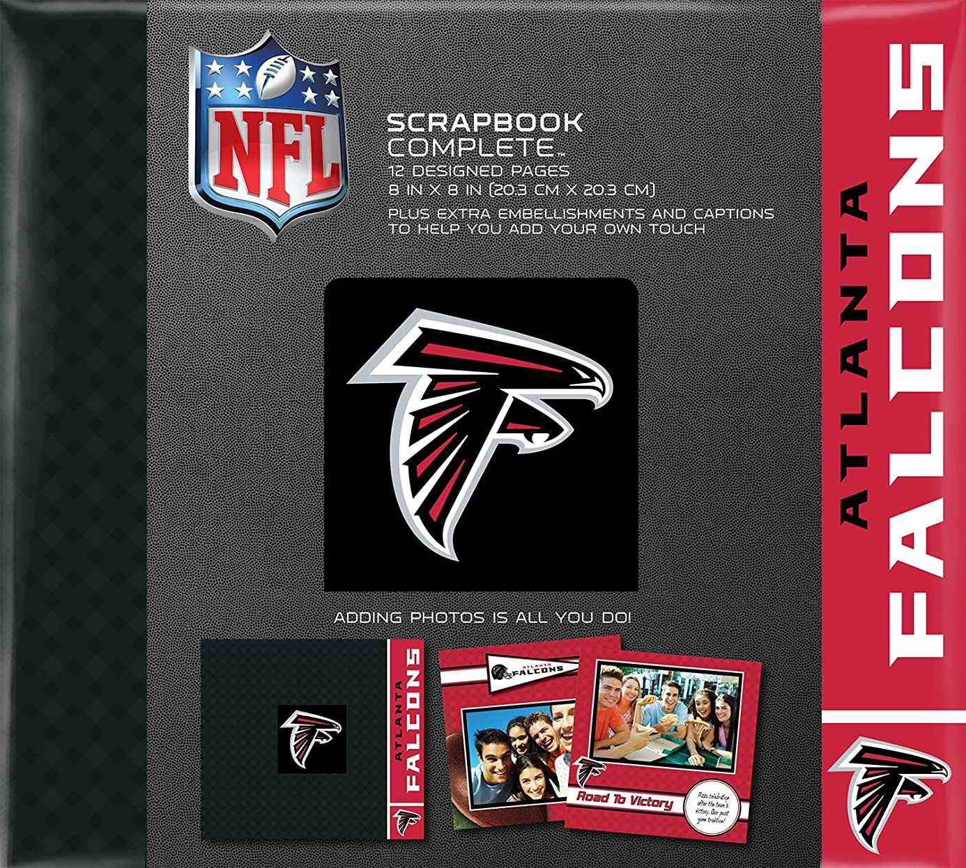 C.R. Gibson Scrapbook Complete Kit, Small, Atlanta Falcons (N878464M)