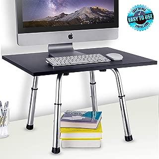Pyle 笔记本电脑支架 - 17.7 英寸便携式台式显示器或电脑桌工作站,具有 6 级可调节高度和防滑手柄,适用于个人电脑、游戏、家庭、办公或商务使用 (PDRIS02)