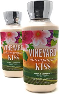 Bath & Body Works Vineyard Champagne Kiss Body Lotion, 8 Ounce (Pack of 2)