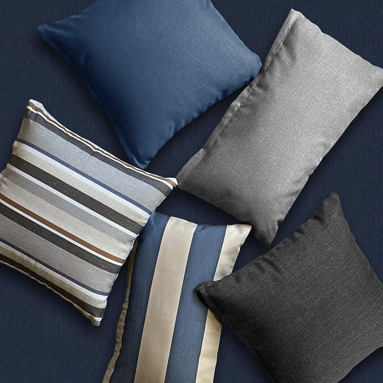 Buy Honeycomb Indoor/Outdoor Textured Solid Charcoal Grey Square ...