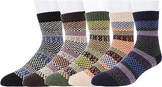 Calcetines de Lana Calientes Para Otoño e Invierno Estilo Vintage Hombre 5 Pares