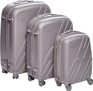 Titan light weight Hardshell Spinner Luggage 100% polypropylene with TSA Lock, set of 3pcs black