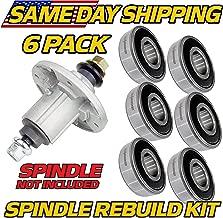 HD Switch (6 Pack) Spindle Rebuild Bearings John Deere GY21098, LA130, LA140, LA145, LA155 Compatible with John Deere