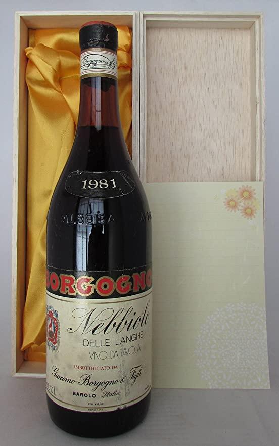 Nebbiolo Delle Langhe 1981 Giacomo Borgogno ネッビオーロ デッレ ランゲ 1981 ジャーコモ ボルゴーニョ [並行輸入品]